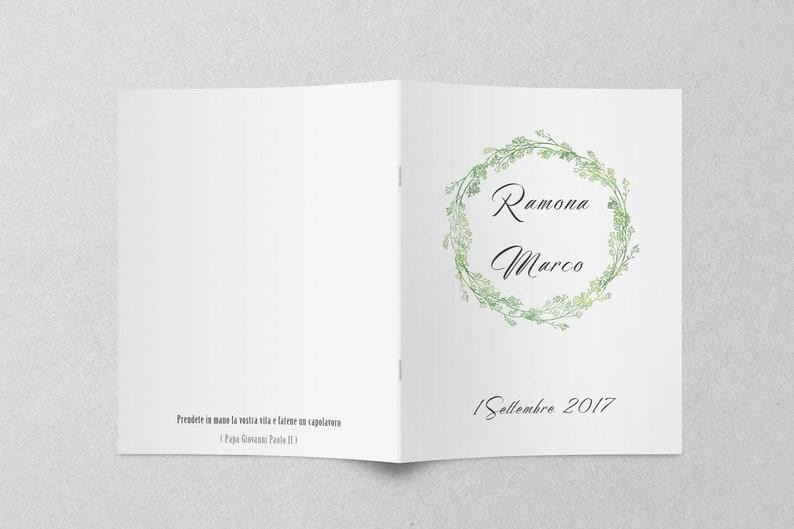 Frasi Matrimonio Libretto Chiesa.Libretto Chiesa Messa Personalizzato Booklet Wedding Booklet Etsy