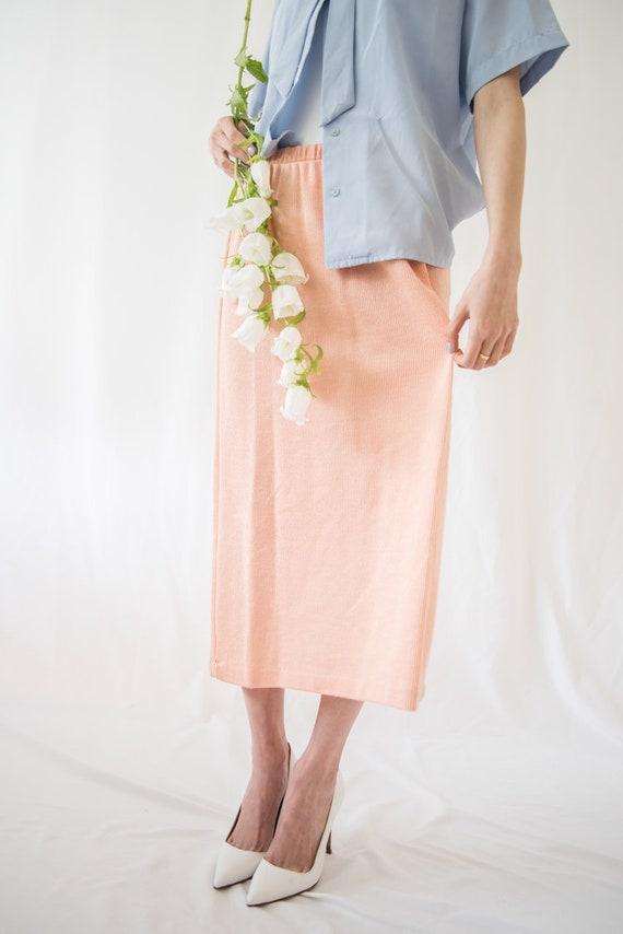 Peach Pink Maxi Skirt