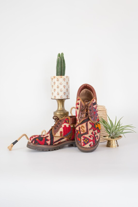 Turkish Kilim Rug Booties