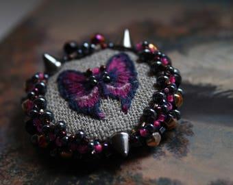 Beaded brooch, Butterfly embroidery Brooch Butterfly, embroidery brooch, gift brooch, handmade brooch, bead embroidery brooch, bead Brooch