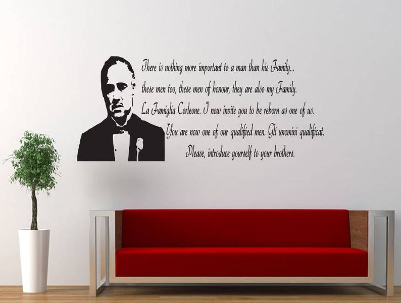 Living Room Sticker Decal The Godfather Quote Decor Wallart Bedroom