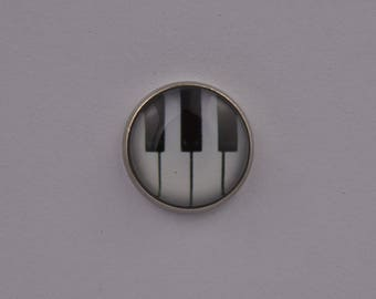 Piano Keys Lapel Pin Cool Suit Music Instrument Band Orchestra Glass  Exclusive Prom Wedding Office Event Jewellery