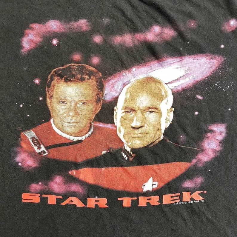 Vintage 1994 Star Trek New Generation T Shirt size  XL W 24 x L 26.5