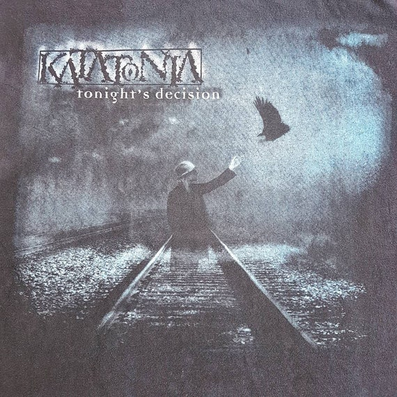 Vintage 1999 Katatonia Tonight's Decision T Shirt size L (W 22.5 x L 26.5) | Opeth Bloodbath Anathema