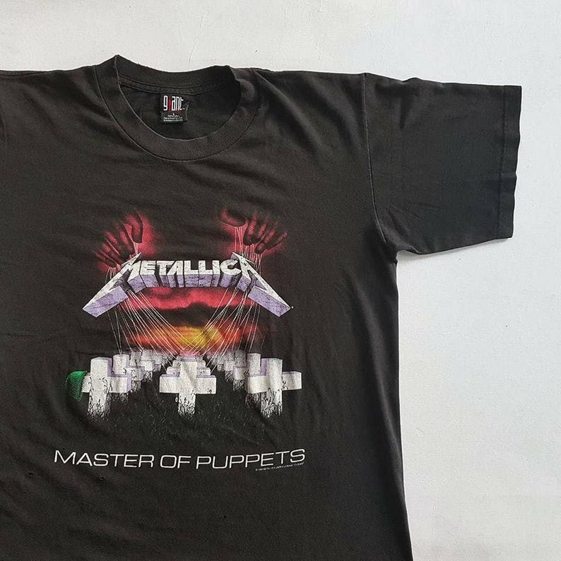 3d791d65a Vintage 1994 Metallica Master Of Puppets T Shirt size L W 23   Etsy