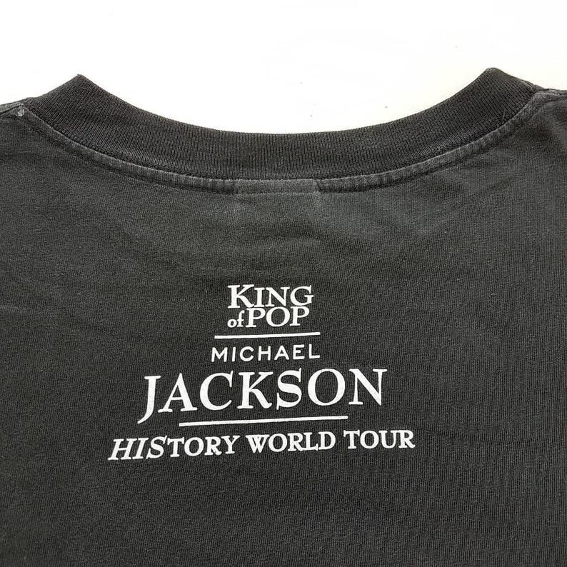 Vintage 1996 Michael Jackson King Of Pop History World Tour T Shirt size L Madonna Whitney Houston Tina Turner W 22 x L 27