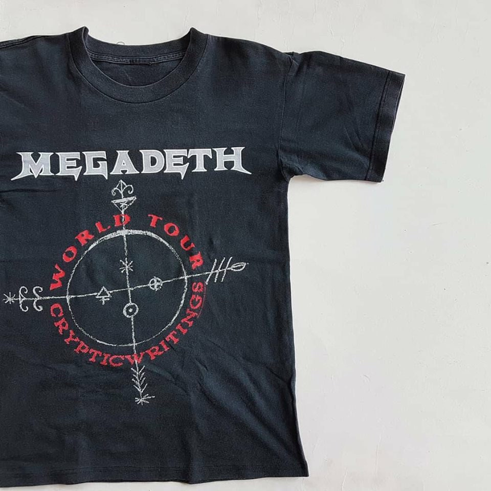 f70e77c1c49c Vintage 1998 Megadeth Cryptic Writings World Tour T Shirt W   Etsy