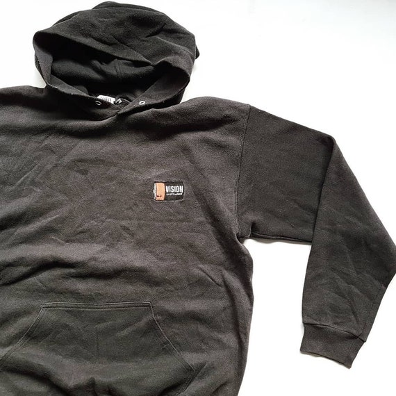 Vintage 90's Vision Street Wear Fully Charged Pullover Hoodie (W 22 x L 27 x S 23)