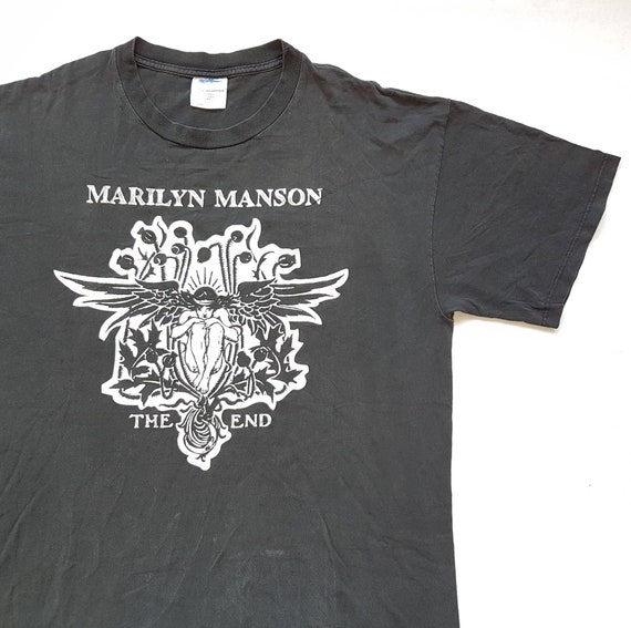 Rammstein White Zombie Fear Factory W 23 x L 31.5 Vintage 90/'s Marilyn Manson AntiChrist Superstar The End T Shirt size L