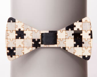 Missing Element Black-Gray Bow Tie
