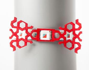 Arabesque Red Bow Tie