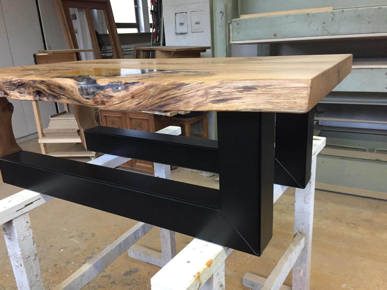 Tavolo legno di quercia con resina epossidica e oro in etsy for Tavolo resina epossidica