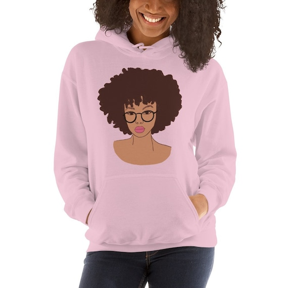 PUSHING BLACK Afro Christmas Unisex Pullover Hoodie