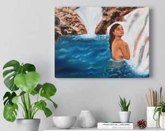 Oasis Canvas Gallery Wraps, Inspirational Wall Art, Canvas Prints, Tropical Home Decor