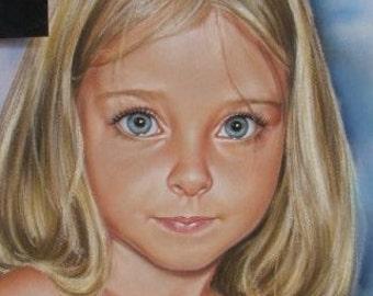Custom Portrait from Photo Portrait Painting  Drawing Original handmade gift / present