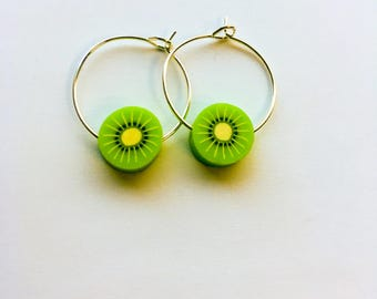 Fruit Hoop Earrings