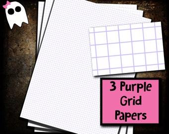 PPS-20e /// Purple Grid Paper - Purple Graph Paper - Grid Paper - Graph Paper - Digital Paper - Digital Graph Paper - Digital Grid Paper