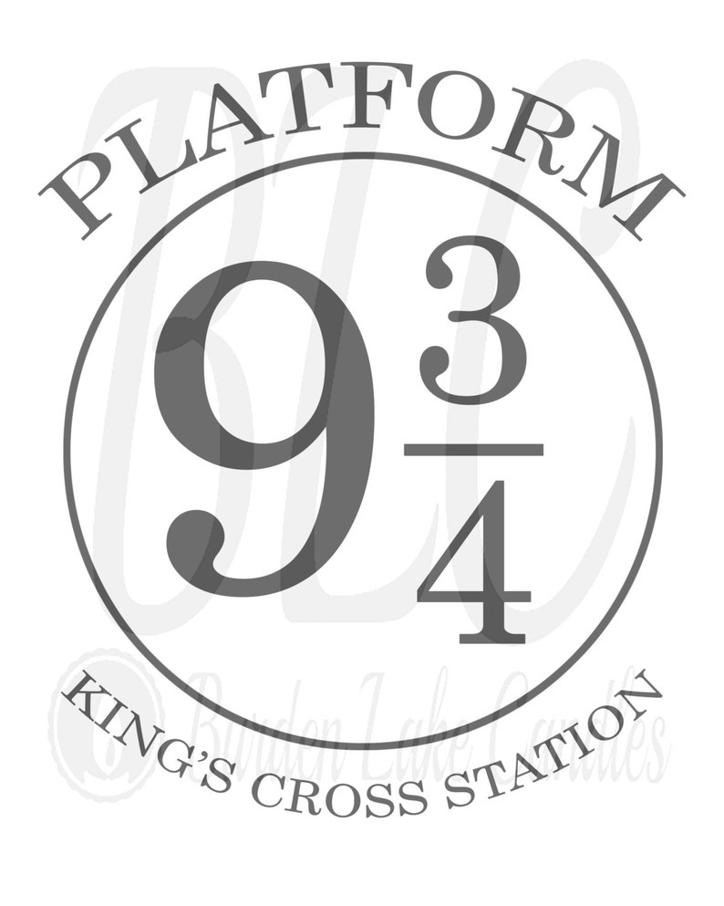 graphic relating to Platform 9 3 4 Sign Printable named System 9 3/4 Printable