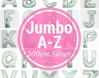 Jumbo SILVER Megaloon Letters 100cm  A - Z