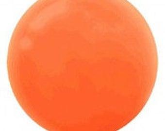 Jumbo  Round 60cm Balloon Orange Peel, Single or 4 pack