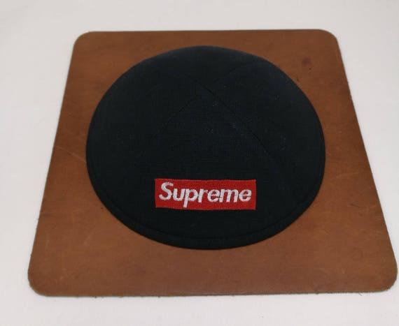 bff3eab567d ... low price supreme yarmulke yamaka kippa white or black satin hat 6  panel etsy b2351 0a25e ...