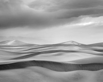 Storm Clouds Over Dunes matted fine art archival print