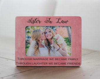 Sister In Law GIFT Personalized Picture Frame For Friend Bridesmaid Birthday