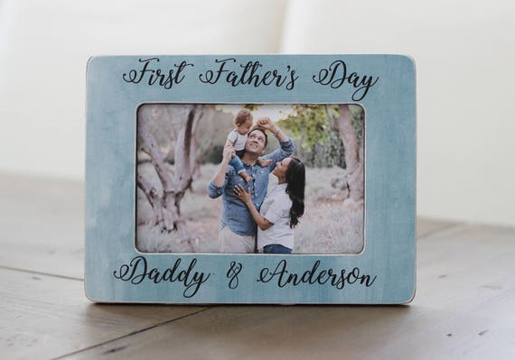 Erste Vatertag Personalisierte Bilderrahmen Geschenk Neue Papa Vatertagsgeschenk Für Mann Vatertag