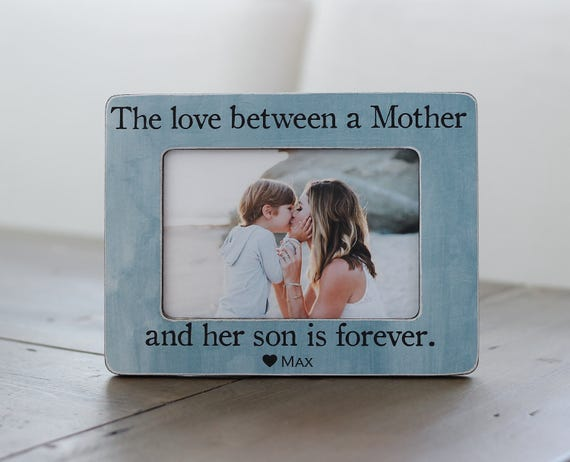 Mother Son Personalized Gift Frame Gift For Wife Mom Of Etsy