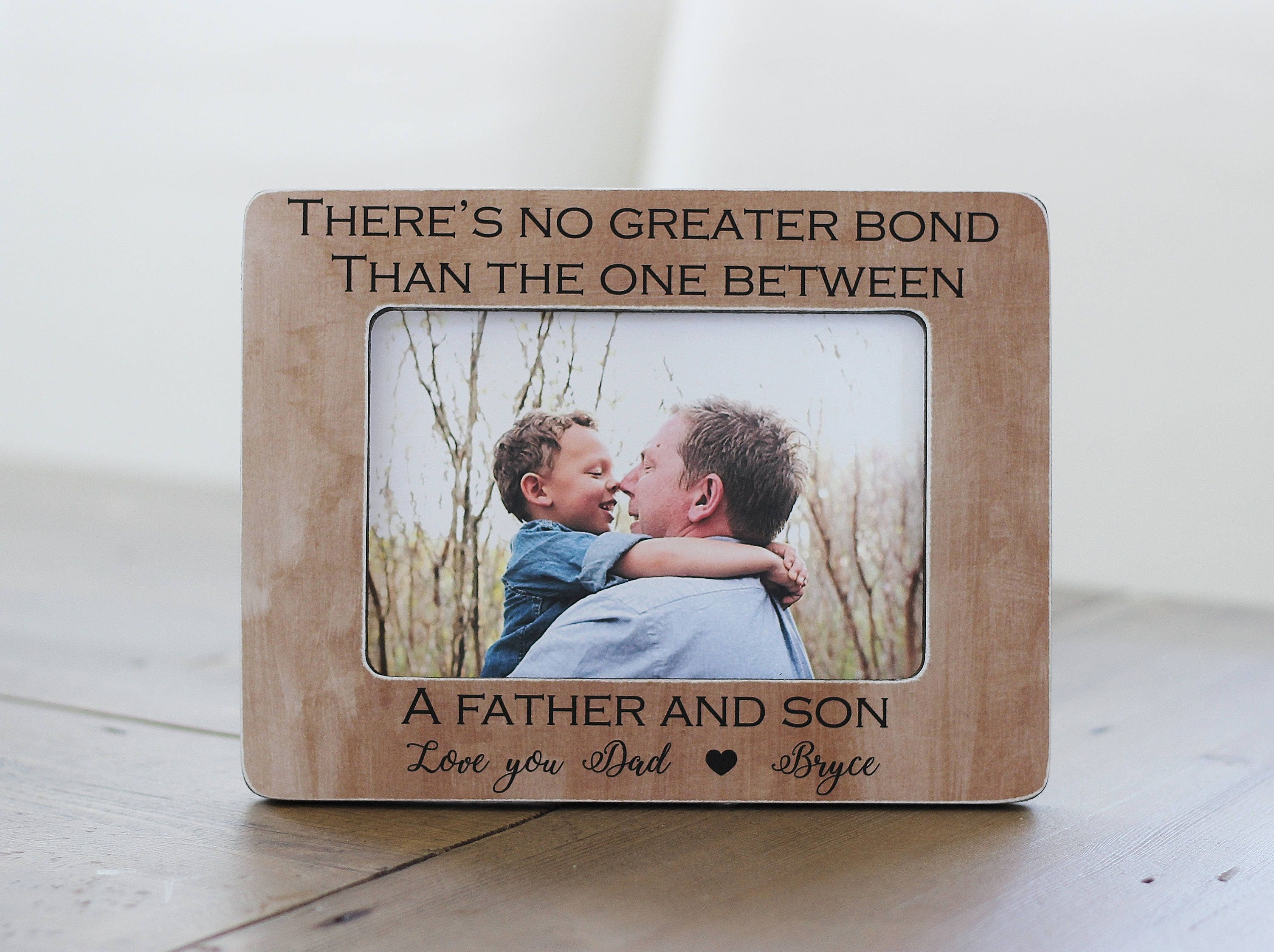Dad Gift Frame Father Son Gift from Son Personalized   Etsy