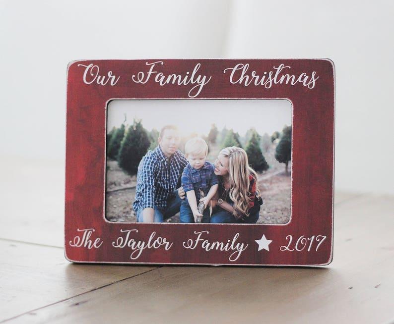Weihnachten Geschenk Bilderrahmen Unserer Familie Weihnachten Etsy