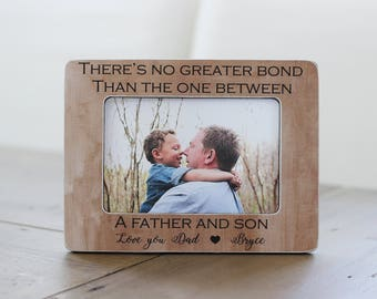 Father's Day Gift Frame, Father Son, Gift from Son, Personalized Picture Frame GIFT, Fathers Day, Bond Between Father Son Quote