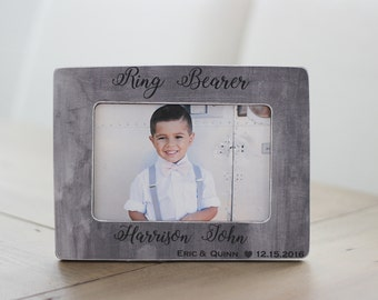 Ring Bearer GIFT Personalized Picture Frame Thank You Gift Custom Frame for Ring Bearer
