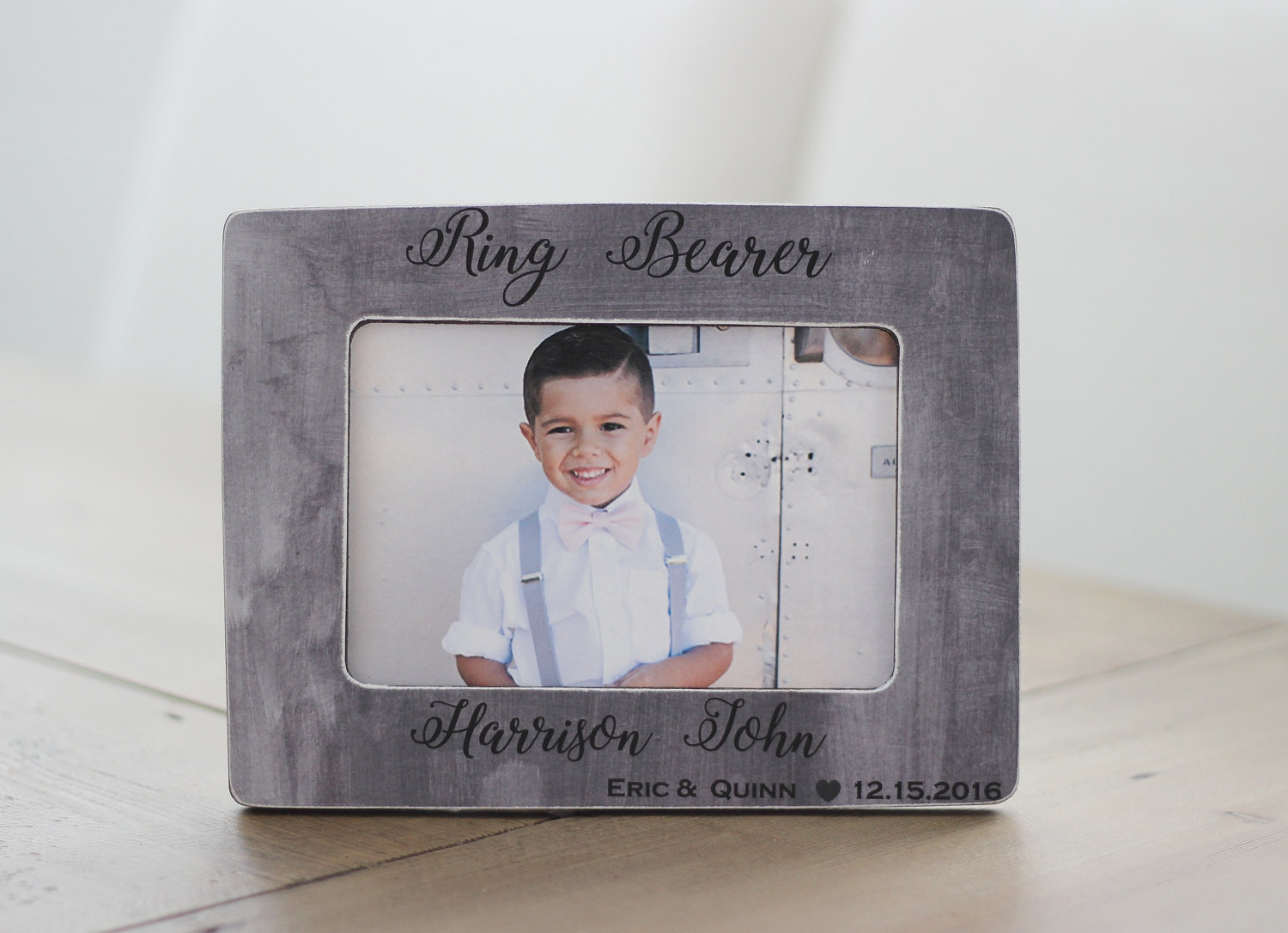 Ring Bearer GIFT Personalized Picture Frame Thank You Gift | Etsy