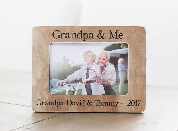 Father\'s Day Gift for Grandpa Grandpa Frame Grandfather | Etsy