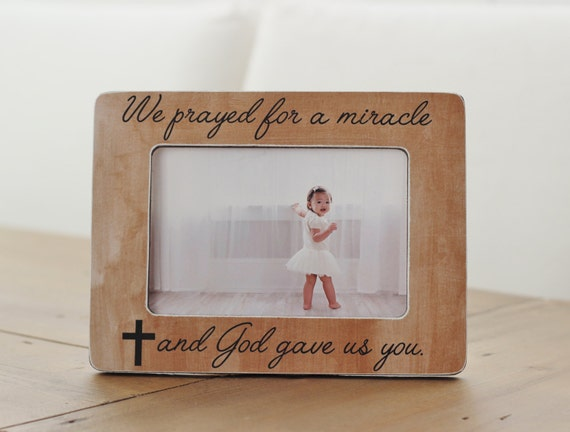 Pregnancy Ultrasound Frame We Prayed for a Miracle and God