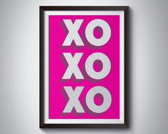 XOXOXO Print - Wall Art