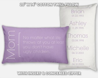 Personalized Mom Gifts Throw Pillow for Mom and Daughter Gifts for Mom for Christmas Gifts for Mom and Dad Mom from Daughter Birthday Gift