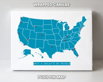 United States Travel Map of America, Custom Christmas Gift for Friend, Birthday Gift for Sister, Graduation Gift for Brother, Unique Present
