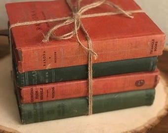Red & Green Holiday Vintage Book set