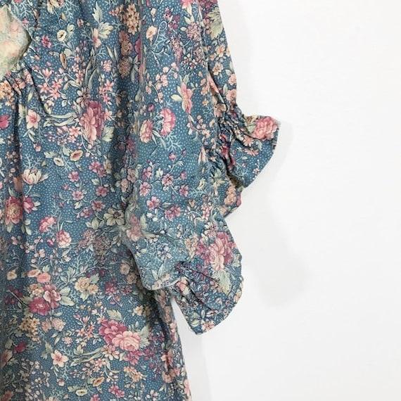 Vintage 70s Cottagecore Dress Floral Prairie Long… - image 9