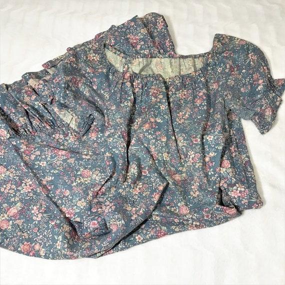 Vintage 70s Cottagecore Dress Floral Prairie Long… - image 10