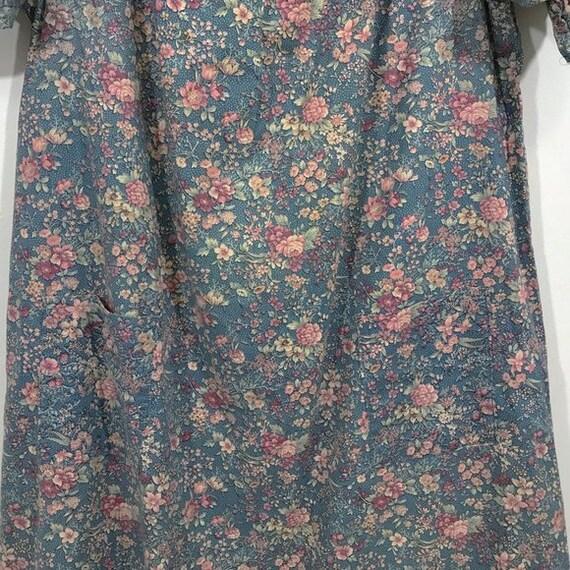 Vintage 70s Cottagecore Dress Floral Prairie Long… - image 2