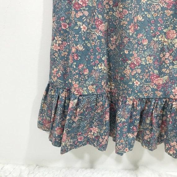 Vintage 70s Cottagecore Dress Floral Prairie Long… - image 7