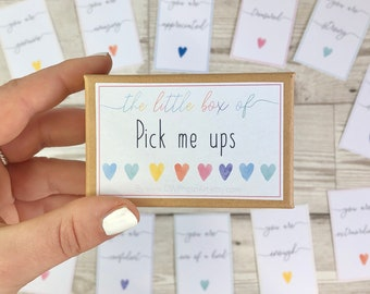 Box of pick me ups. Little box of positivity. Cheer up gift. Mental health box. Daily affirmations. Positivity gift. Inspirational gift box.