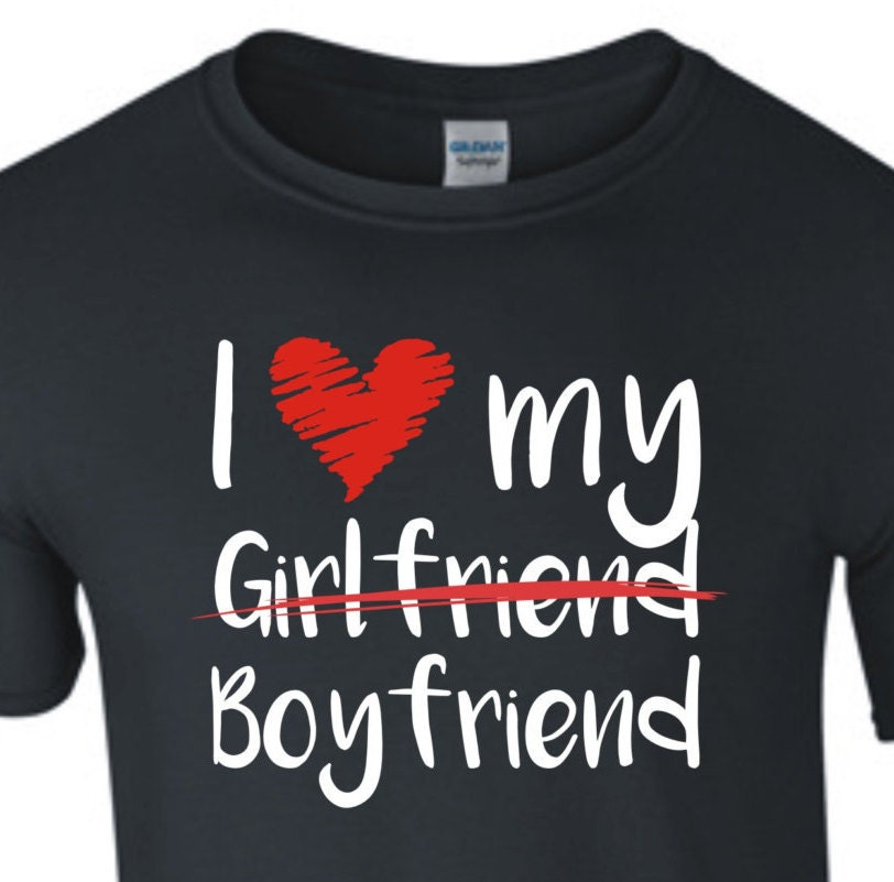 I love my Boyfriend Gay Homosexuell Schwul Shirt fun Present | Etsy