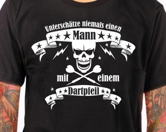 DART shirt for Dartprofis T-Shirt gift DART skull Scull star underestimate no man father innovator's day arrow DART sport