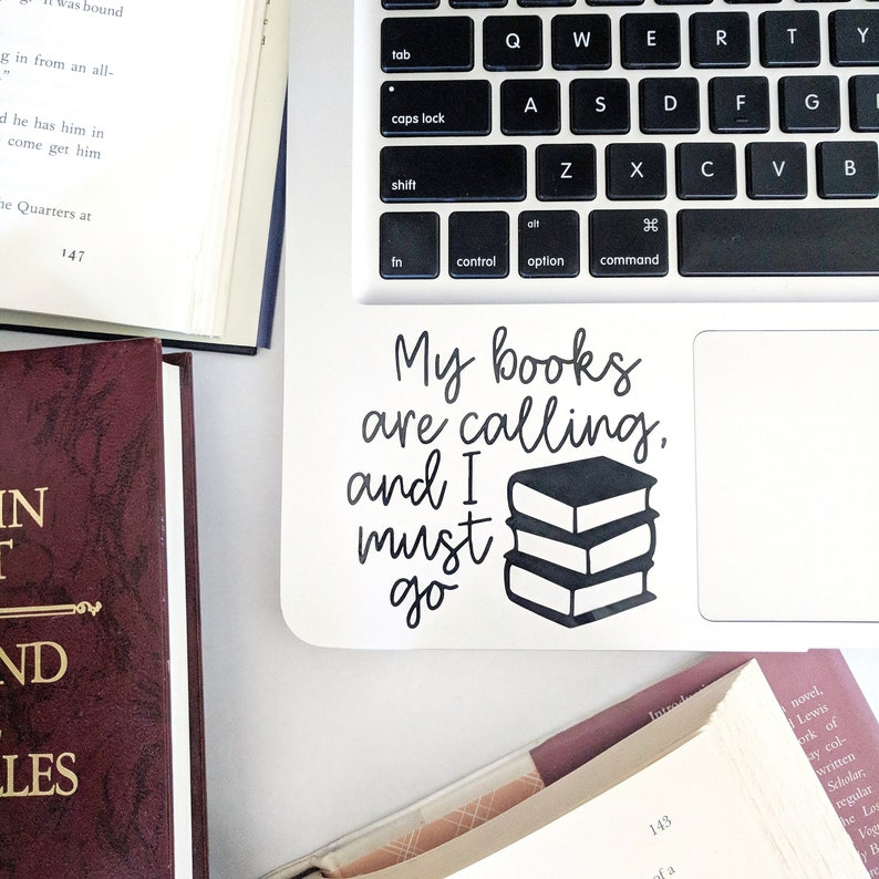 Literature Decal Librarian My Books are Calling Gift for image 0