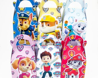 Paw patrol favor box, Paw patrol candy favors