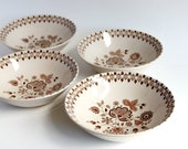 Vintage Bowls Dinnerware Dishes Cereal Ironstone Bowl England Johnson Brothers Bros Dinner Set Ice Cream Bowls Rustic Kitchenware Kitchen